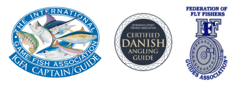 omar gade guide fishing sea trout fyn denmark fishing lodge fly fishing guide spin fishing guiding coast of funen